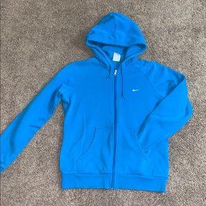 Blue Nike full zip jacket